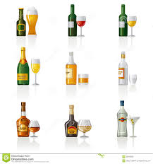 Alcohol Icon 30810630 Illustration Shake Of Set Drinks Illustration Stock -