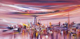 painting london 20 fenchurch street by sara sherwood