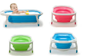 baby folded bathtub