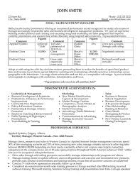 Resume Format For Sales And Marketing Manager. Cv Format For ...