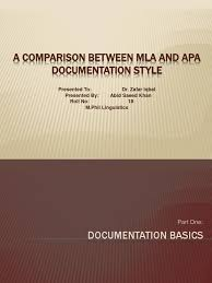 An Introduction To Mla And Apa Documentation Citation Writing