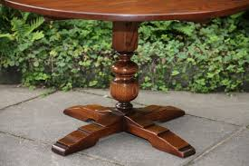an old charm solid oak round occasional coffee table stand