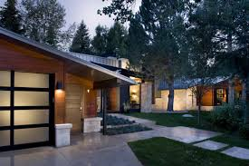 exterior mid century modern homes atlanta chicago wooden laminate outdoor wall concrete footpath and floor