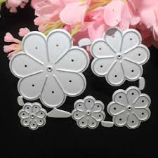 <b>5PCS</b>/<b>Set Flower Metal</b> Cutting Dies Stencils For DIY Scrapbooking ...
