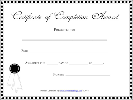 Completion Certificate Sample 20 Completion Certificate Template Free Download