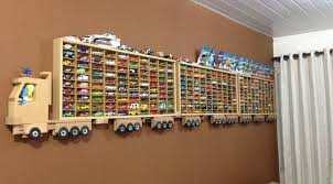 diy wooden truck hot wheels display