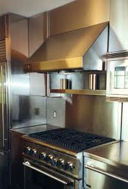 Stainless Steel Backsplash Kitchen Kitchen Beautiful Kitchen Design Ideas With Stainless Steel