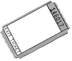 Exit Ticket Template Everybody Is A Genius Exit Tickets 15