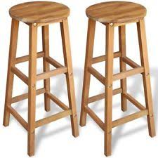 wooden stools. b#2 pcs wooden bar stools chair breakfast pub kitchen acacia wood weatherproof