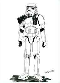 Stormtrooper Coloring Pages Drawing Print