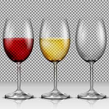 set transpa vector wine glasses empty with white and red wi wine glass