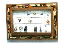 mail organizer wall mounted jewelry for wooden mosaic vintage