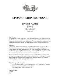 Proposal Letter For Sponsorship Sample For Event Sponsorship Proposal