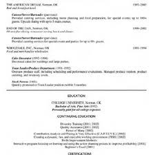 100 Resume Food Service Sample Restaurant Server Resume