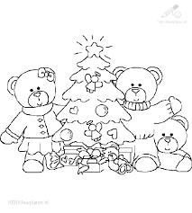 1001 Kleurplaten Kerst Beren Kleurplaat Beren Bij De Kerstboom