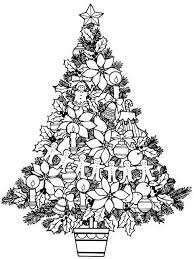 Christmas Tree Colouring Pages From Dover Publications Christmas