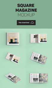 Download a free mockup now. Square Brochure Mockup Archives Blugraphic