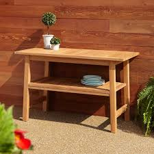 47 millry rectangular teak outdoor grill table square coffee 4