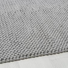 Teppich Aus Gewebter Baumwolle In Grau 140x200 In 2019