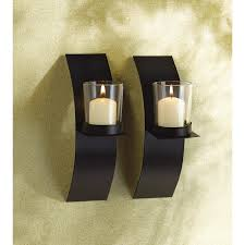 modern candle sconce duo – just deco