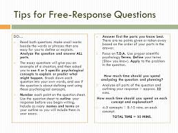 ap psychology exam writing tips for response questions do  tips for response questions do  both questions