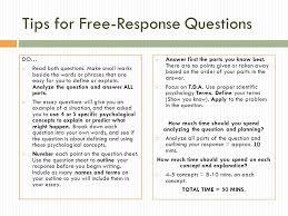 ap psychology exam writing tips for response questions do  tips for response questions do  both questions
