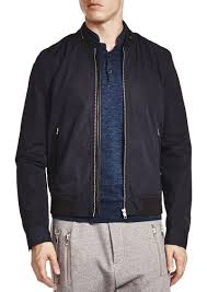 the kooples vietnamese coffee leather trim er jacket