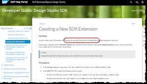 Business Objects Design Studio Download Design Studio 1 6 Your First Sdk Extension Write Your Own