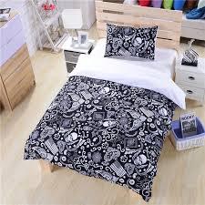black and white bedding paisley american flag bedding skull bedding new hot duvet cover set twin