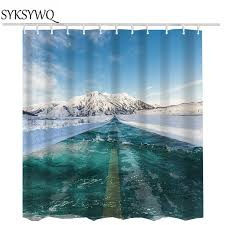 3d shower curtains rideau bath curtains sea beach whole waterproof shower curtain fabric shower curtains
