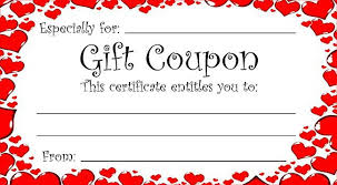 Heart Theme T Coupon For Valentine S Day Or Any Time Of Year I Owe