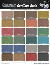 Prosoco Gemtone Color Chart Polished Concrete Color Chart By Rodney Robles Issuu
