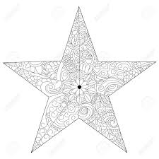 star coloring book vector ilration anti stress coloring for black and white