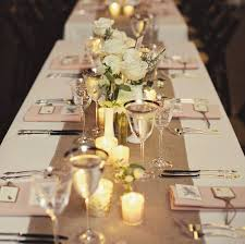 ... Nice Look Of Simple But Elegant Wedding Centerpieces : Comely Design  Ideas Using Rectangular Brown Table ...