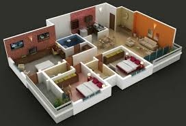 3d 3 bedroom house plans with photos terrace on house also insight