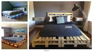 Bed Frame Designs Diy 35 Unique Diy Pallet Bed Frame Ideas Homiku Com