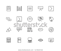 Set 20 Linear Icons Such Equation Royalty Free Stock Image