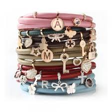 bracelets fuschia leather charm wrap bracelet 66cm bracciale my world charms rebecca bwlbpb03 blu 29c31817 0e1a