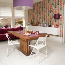 Contemporary printed dining room wallpaper