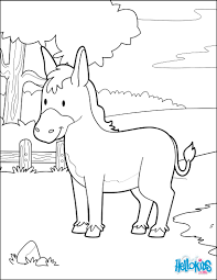 Donkey In The Forest Coloring Page
