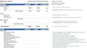 Business Start Up Expenses Startup Financials Template Jtmartin Co