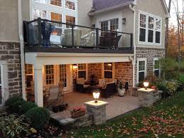 covered deck ideas. Delighful Deck The Partially Covered Deck Ideas Complete Guide About Multi Level Decks  With Design Rhpinterestcom Home With Covered Deck Ideas N