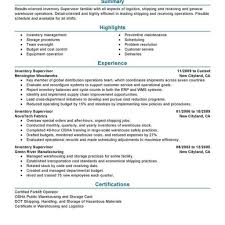 Warehouse Resume Sample Warehouse Supervisor Resume Best Template Collection with regard 47