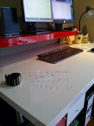 white table top ikea. Modern Dry Erase Standing Desk IKEA Hackers . White Table Top Ikea R