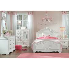 Perfect White Traditional 6 Piece Twin Bedroom Set   Jessica