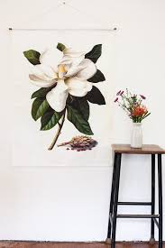 white magnolia flower wall art
