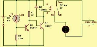 simple light sensor circuit and working operation light sensor circuit diagram