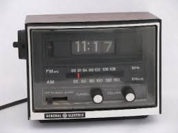 Rotating Numbers Retro 1970s Flip Number Vintage Ge Alarm Clock Am Fm Radio With