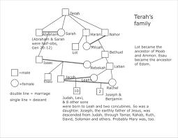 Terahs Family Chart Showing Relationships Among Terahs D