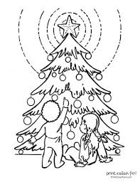 Choose christmas coloring pages of animals, elf coloring pages, snowman coloring pages kids who color generally acquire and use knowledge more efficiently and effectively. Top 100 Christmas Tree Coloring Pages The Ultimate Free Printable Collection Print Color Fun